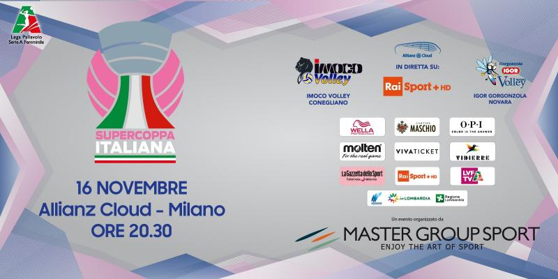 SUPERCOPPA ITALIANA: IL 16 NOVEMBRE ALL'ALLIANZ CLOUD DI MILANO SARA'...