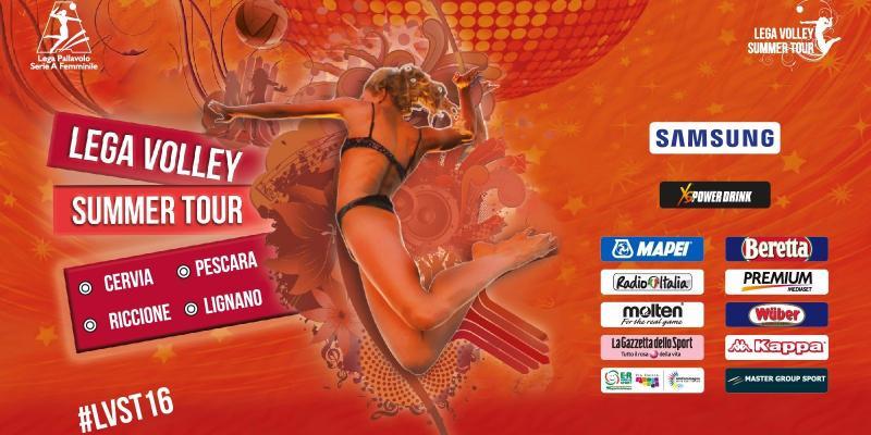 DAL 9 LUGLIO TORNA LO SPETTACOLO DEL MASTER GROUP SPORT LEGA VOLLEY SUMMER TOUR